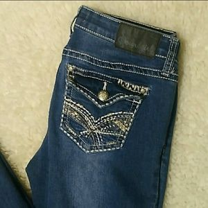 269d121a806 Sound Girl Distressed Boot Cut Jeans